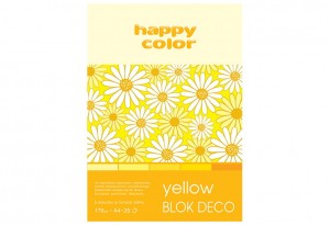 Blok Deco Yellow A4, 170g, 20 ark, 5 kol.  HAPPY COLOR