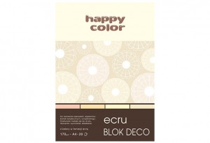 Blok Deco Ecru A4, 170g, 20 ark, 4 kol  HAPPY COLOR