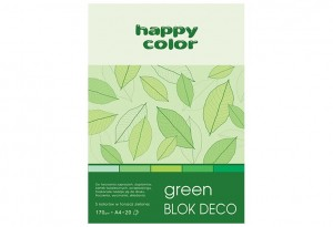 Blok Deco Green A4, 170g, 20 ark, 5 kol. HAPPY COLOR