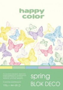 Blok Deco Spring A4/170G HAPPY COLOR