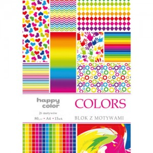 Blok COLORS A4 HAPPY COLOR