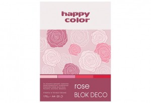 Blok Deco Rose A4, 170g, 20 ark, 4 kol  HAPPY COLOR