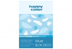 Blok Deco Blue A4, 170g, 20 ark, 5 kol.  HAPPY COLOR