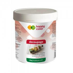 Klej do decoupage wiaderko 250g Happy Color