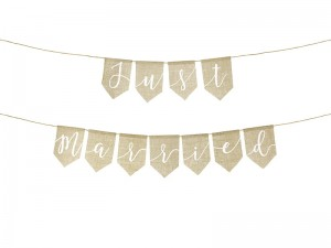 Baner Just married, 23x185cm PartyDeco