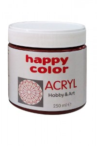 Farba akrylowa brązowy 250ml Happy Color